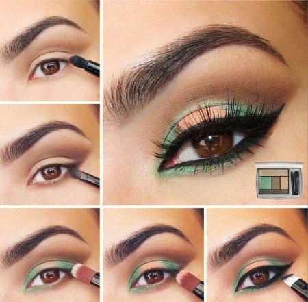 Нежный макияж для карих глаз на выпускной