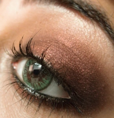 Модный макияж зеленых глаз на выпускной 2016