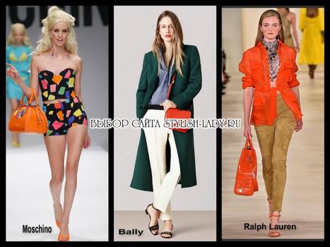 модные яркие сумки 2015