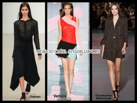 модные ассиметричные юбки 2015