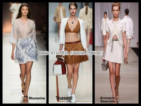 модные юбки трапеции 2015