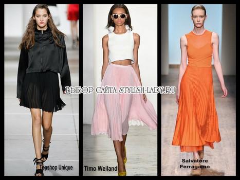 модные юбки плиссе 2015
