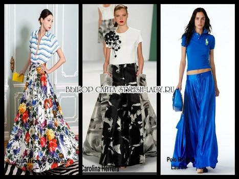 модные юбки клеш 2015