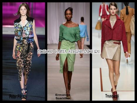 модные юбки с запахом 2015