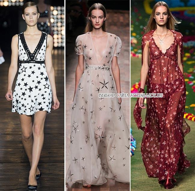модные принты весна - лето 2015: звезды, фото