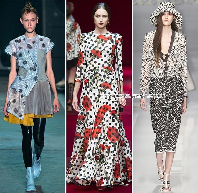 модные принты весна - лето 2015: горох и пятна, фото