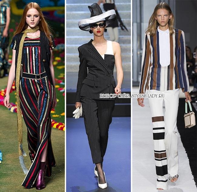 модные принты весна - лето 2015: полосы, фото