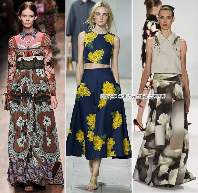 модные принты весна - лето 2015: цветы, фото