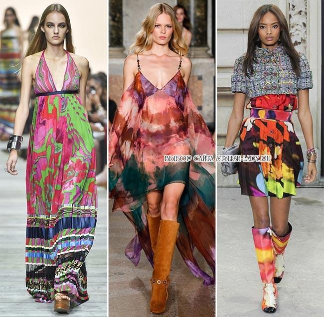 модные принты весна - лето 2015: абстракция, фото