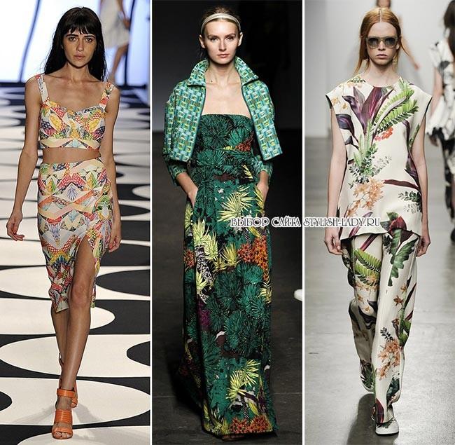 модные экзотические принты весна - лето 2015: фото