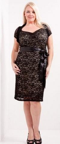 Платье-футляр для полных