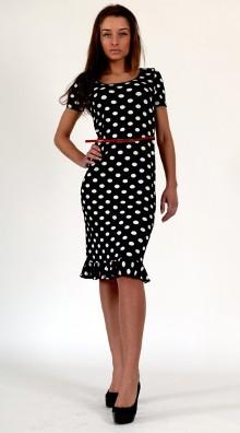Платье в горошек | Белое Черное Красное Летнее Модели Фасоны Выпускные