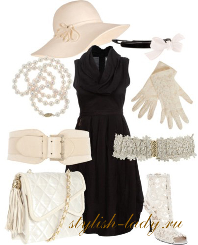 С чем одеть черное платье? Аксессуары к черному платью