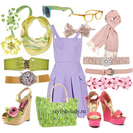 Аксессуары к фиолетовому платью. Бижутерия к фиолетовому платью
