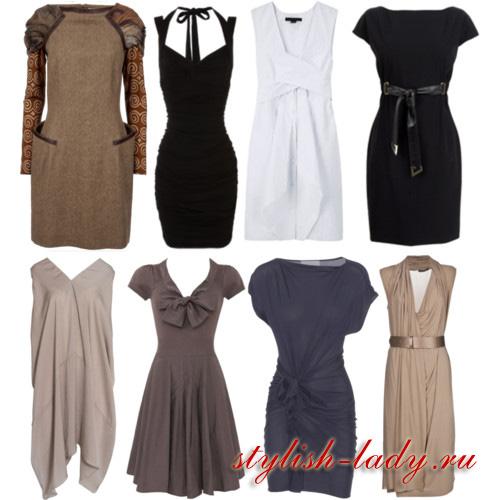 Фото модных фасонов платьев