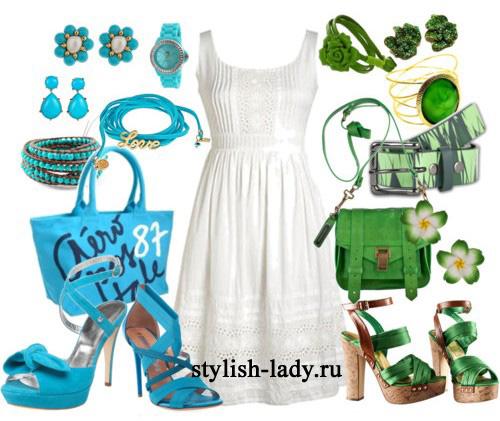 С чем одеть белое платье?