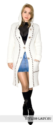 С чем носить вязаное пальто?