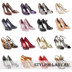 Изящная обувь к вечернему платью