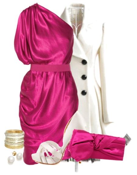 сочетание розового с белым