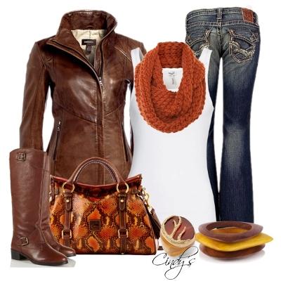 С чем носить коричневые сапоги модные