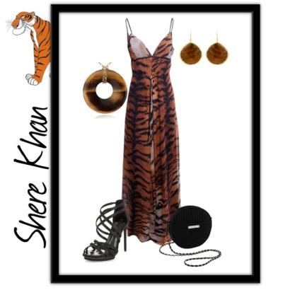 С чем носить леопардовое платье? фото
