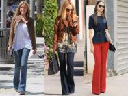 Модные брюки и джинсы клеш в вашем гардеробе… С чем их носить?