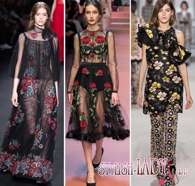 модные цветочные принты осень - зима 2015-2016