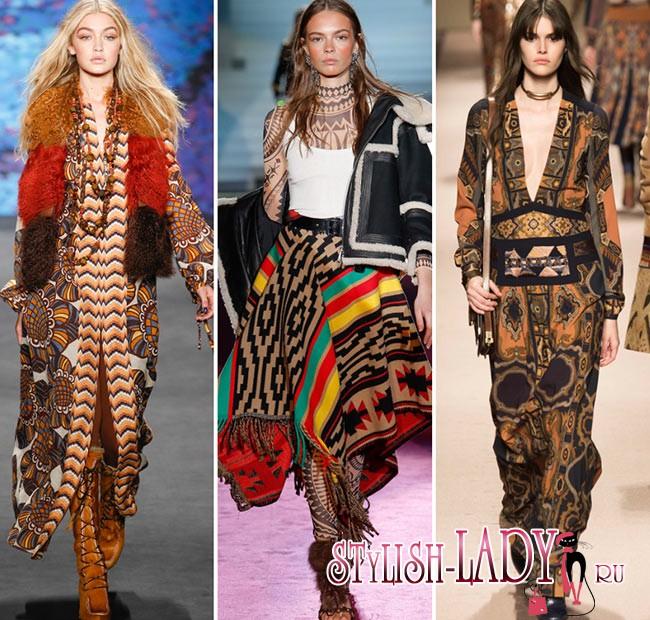 модные этнические принты осень - зима 2015-2016
