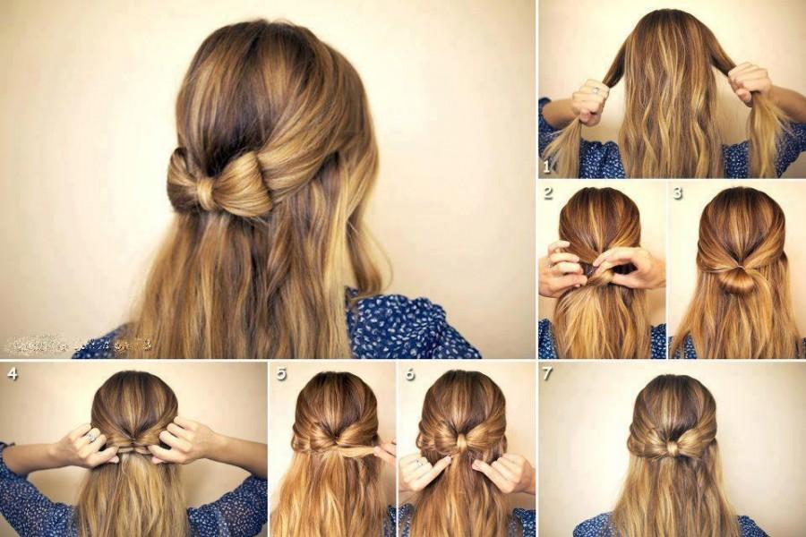 Как сделать причёску в школу на средние волосы