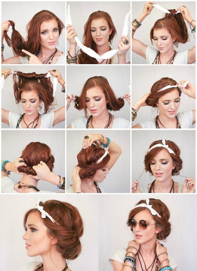 Причёски для длинных волос в домашних условиях своими руками фото