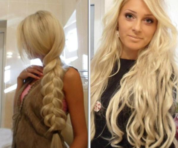 Как сделать стрижку на нарощенные волосы