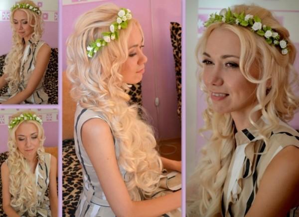 модные прически для нарощенных волос, фото