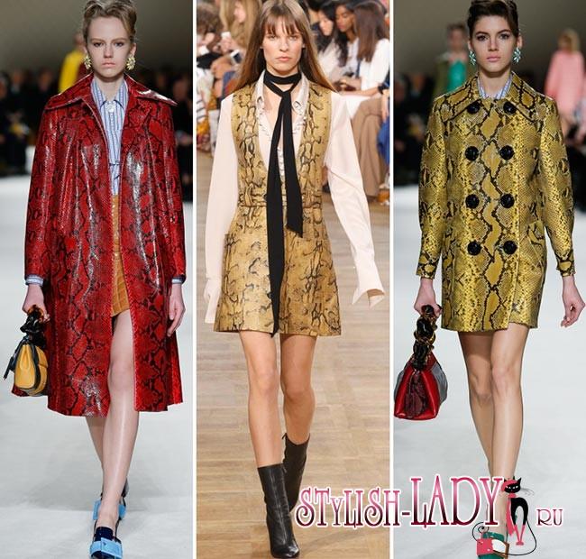 модные принты 2015-2016 имитирующие кожу рептилий
