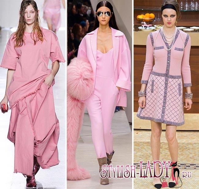 модные цвета осень - зима 2015 - 2016 - розовый