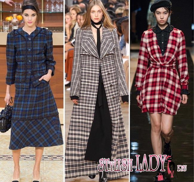 модные принты осень - зима 2015-2016 - клетка
