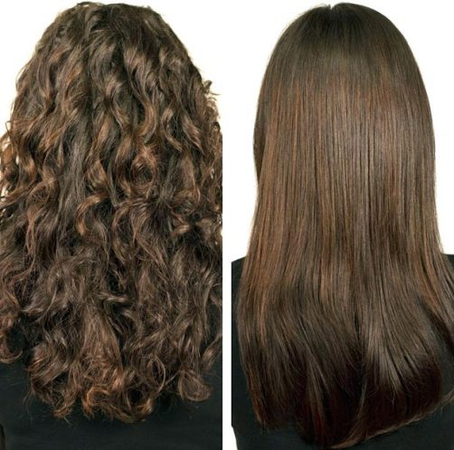 До и после завивки волос