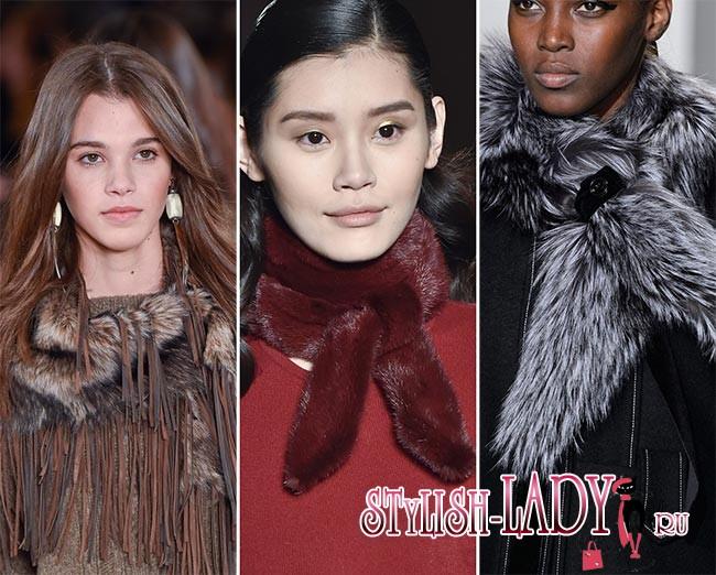 модные шарфы осень - зима 2015 - 2016, фото