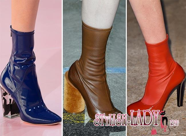 Фото модной обуви осень - зима 2015 - 2016 - чулки
