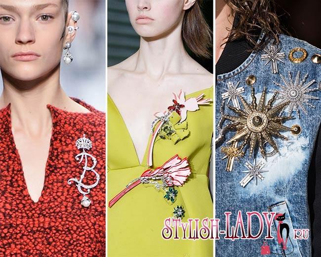 модные броши осень - зима 2015 - 2016, фото