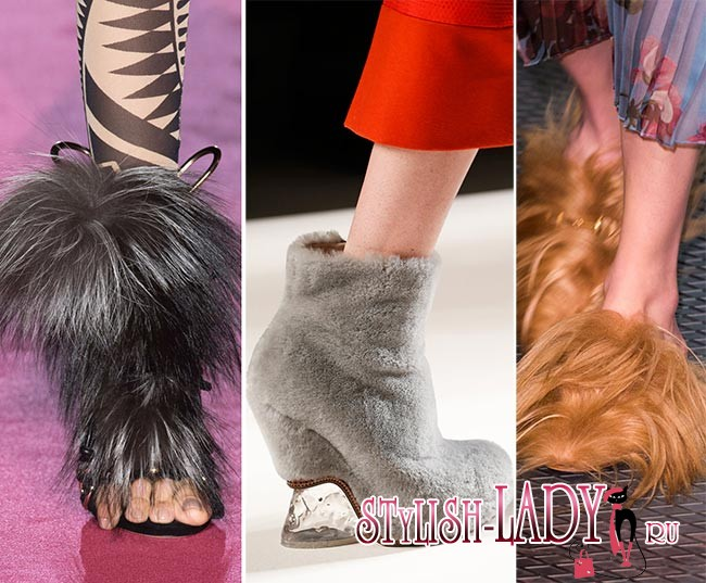 Фото модной обуви с мехом осень - зима 2015 - 2016