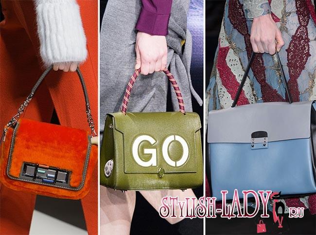 Модные яркие, цветные сумки осень - зима 2015 - 2016, фото