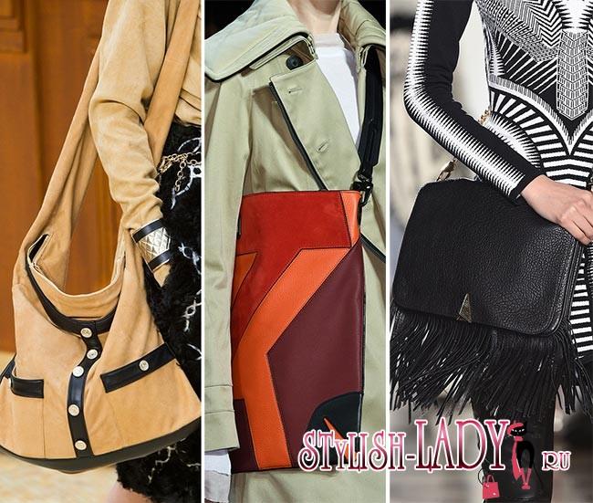Модные сумки-мессенджеры осень - зима 2015 - 2016, фото
