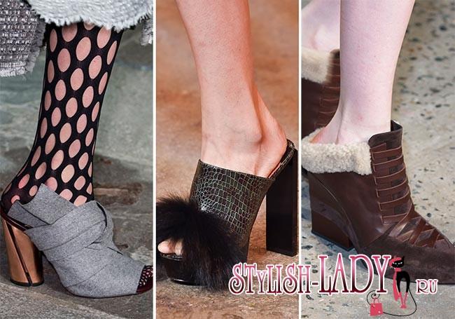 Фото модной обуви осень - зима 2015 - 2016 - слипперы