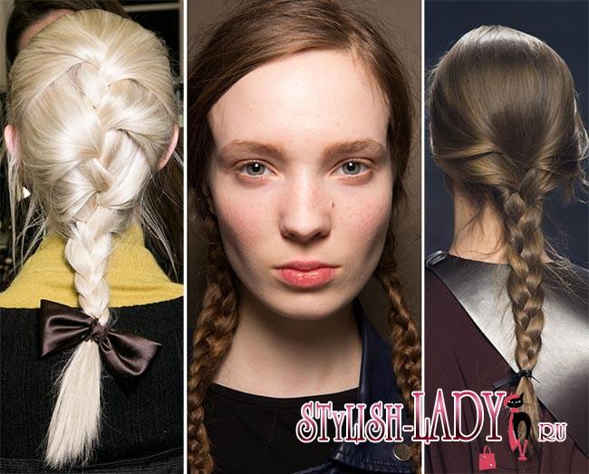Модные косы осень - зима 2015 - 2016, фото