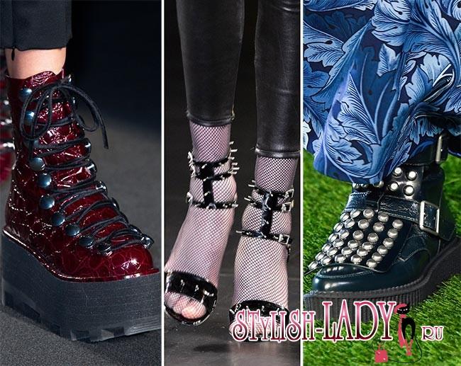 Фото модной обуви в стиле панк осень - зима 2015 - 2016