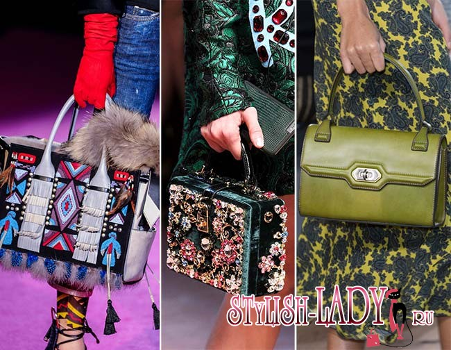 Модные сумки с удобными ручками осень - зима 2015 - 2016, фото