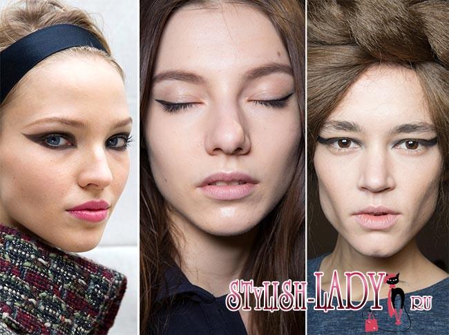 Модный макияж осень - зима 2015/2016, фото
