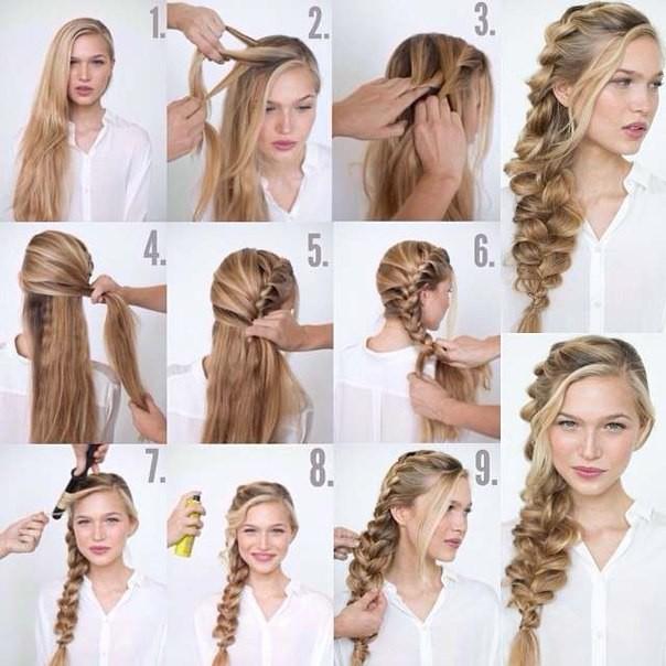 Плетение волос на каждый день своими руками