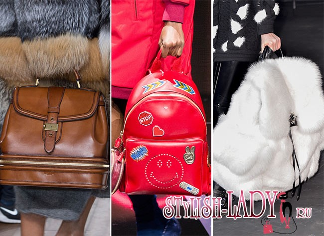 Модные рюкзаки осень - зима 2015 - 2016, фото