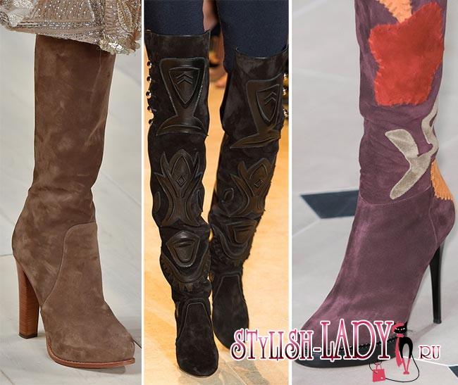 Фото модной замшевой обуви осень - зима 2015 - 2016